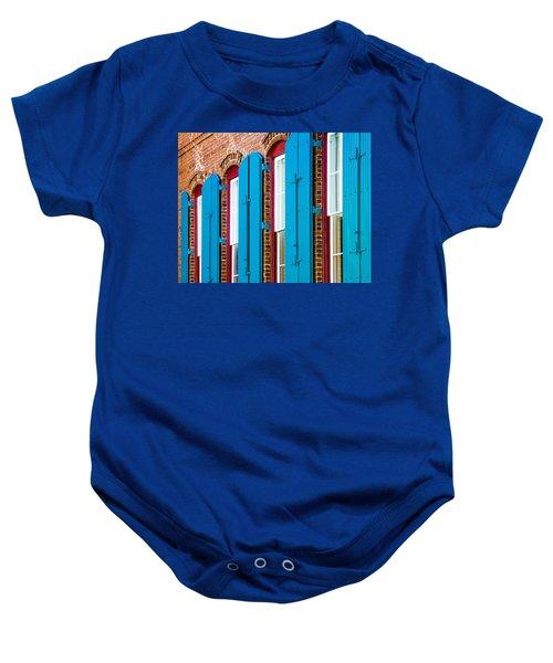 Blue Windows Baby Onesie