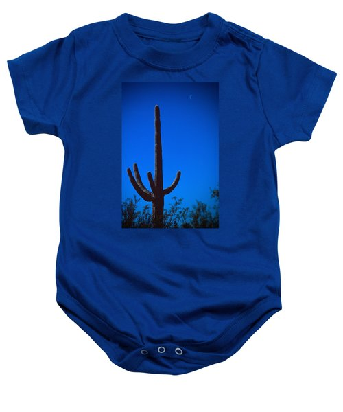 Cactus And Moon Baby Onesie