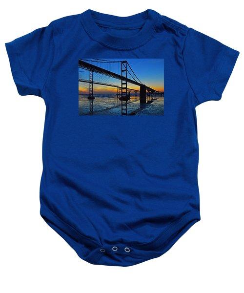 Chesapeake Bay Bridge Reflections Baby Onesie