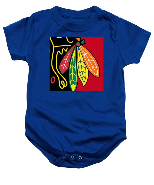 Chicago Blackhawks 2 Baby Onesie
