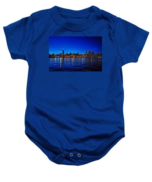 Chicago Skyline At Dusk Baby Onesie