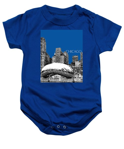 Chicago The Bean - Royal Blue Baby Onesie