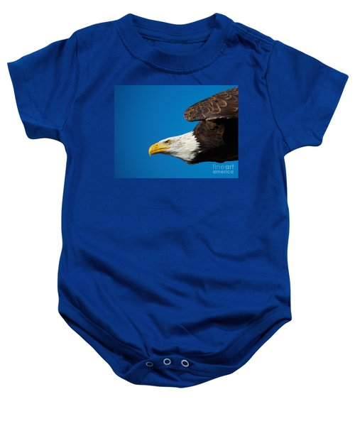 Close-up Of An American Bald Eagle In Flight Baby Onesie