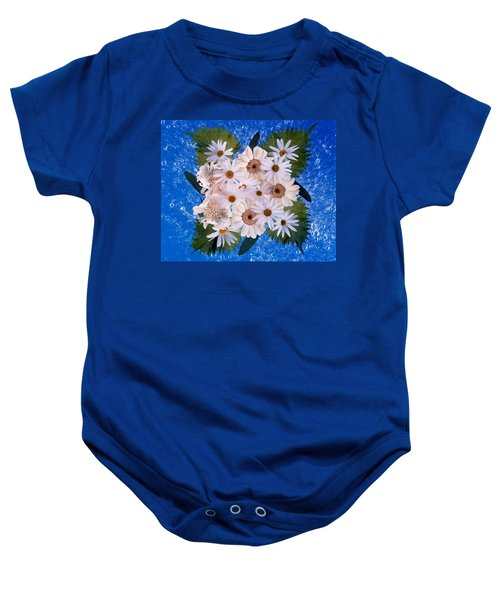 Close Up Of White Daisy Bouquet Baby Onesie