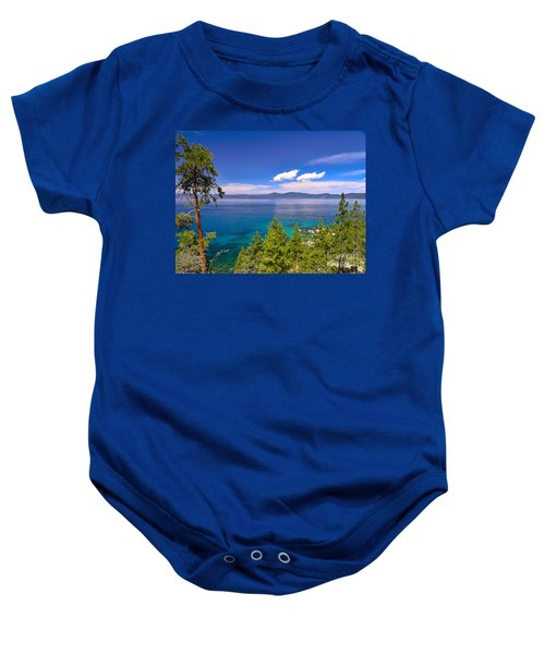 Clouds And Silence - Lake Tahoe Baby Onesie