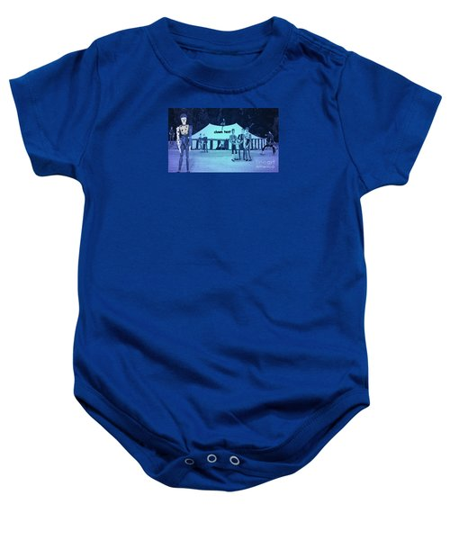 Baby Onesie featuring the photograph Clown Tent by Nareeta Martin