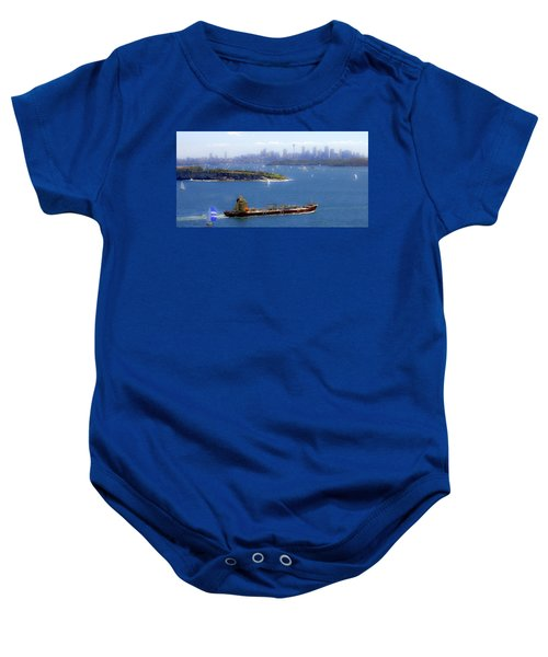 Baby Onesie featuring the photograph Coming In by Miroslava Jurcik