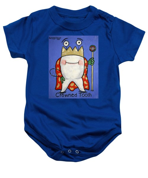Crowned Tooth Baby Onesie