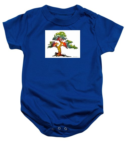 Da140 Rainbow Tree Daniel Adams Baby Onesie