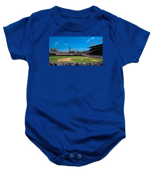 Day Game At Wrigley Field Baby Onesie by Anthony Doudt