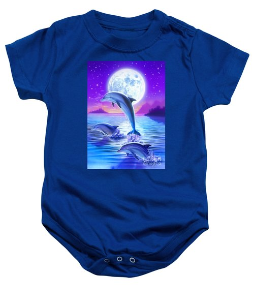 Day Of The Dolphin Baby Onesie