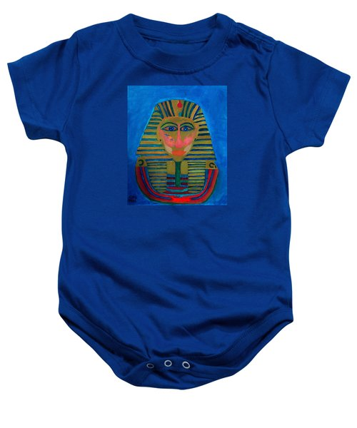 Baby Onesie featuring the painting Egypt Ancient  by Colette V Hera  Guggenheim