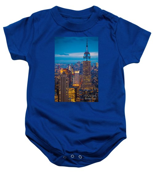 Empire State Blue Night Baby Onesie