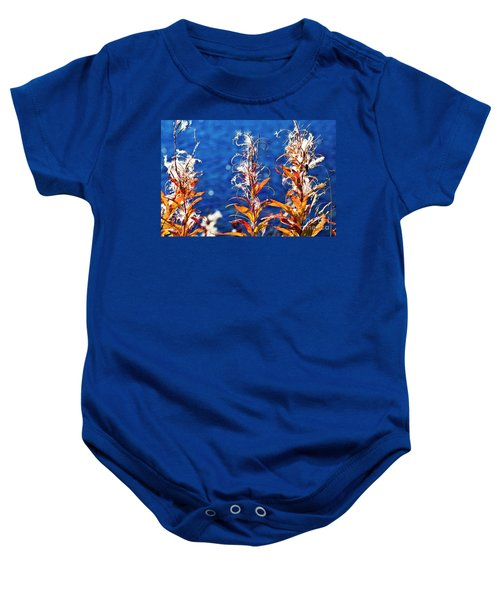 Baby Onesie featuring the photograph Fireweed Flower by Heiko Koehrer-Wagner