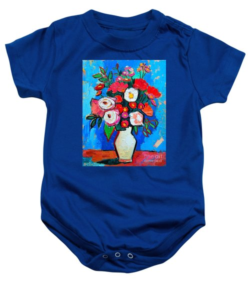 Flowers And Colors Baby Onesie