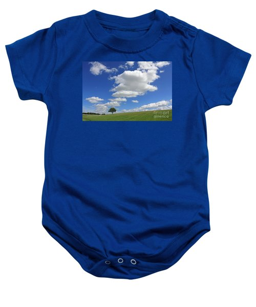 Fluffy Clouds Over Epsom Downs Surrey Baby Onesie