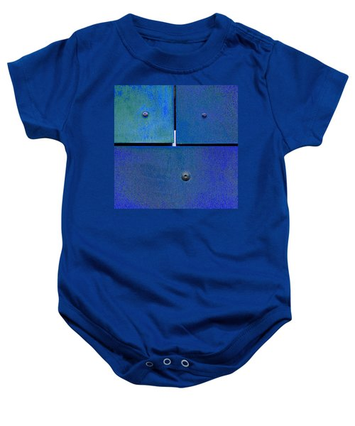 Four Five Six - Colorful Rust - Blue Baby Onesie