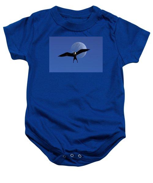 Frigatebird Moon Baby Onesie by Jerry McElroy