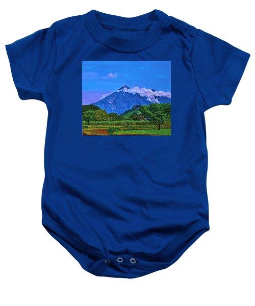 Fuego Volcano Guatamala Baby Onesie