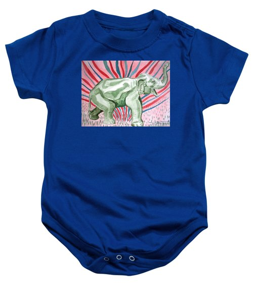Gleeful Elephant Baby Onesie