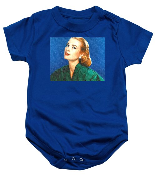 Grace Kelly Painting Baby Onesie by Gianfranco Weiss
