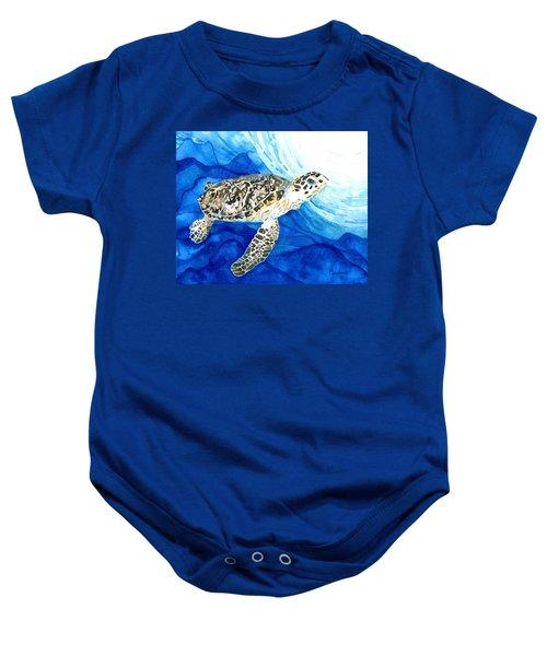 Hawksbill Sea Turtle 2 Baby Onesie