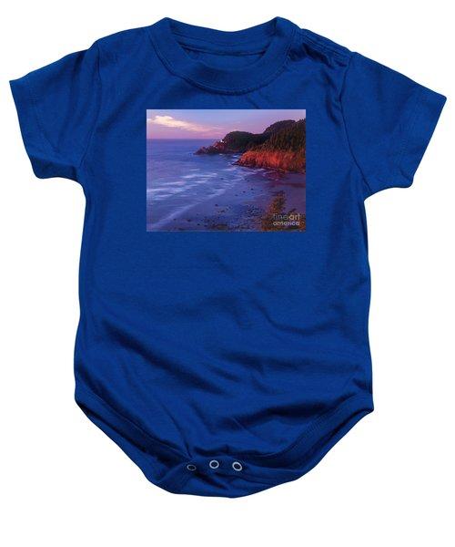 Heceta Head Lighthouse At Sunset Oregon Coast Baby Onesie