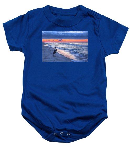 Heron On Mobile Beach Baby Onesie