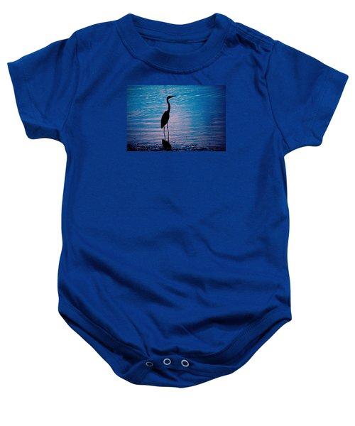 Herons Moment Baby Onesie
