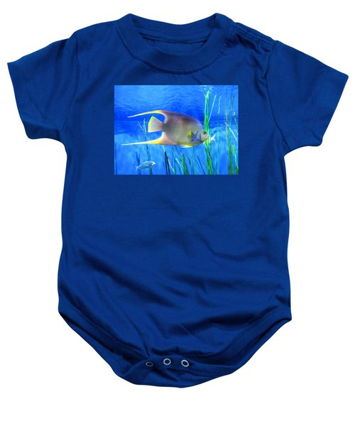 Into Blue - Tropical Fish By Sharon Cummings Baby Onesie