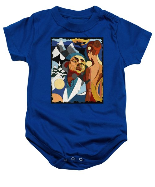 Life Of Roy Painting With Hidden Pictures Baby Onesie