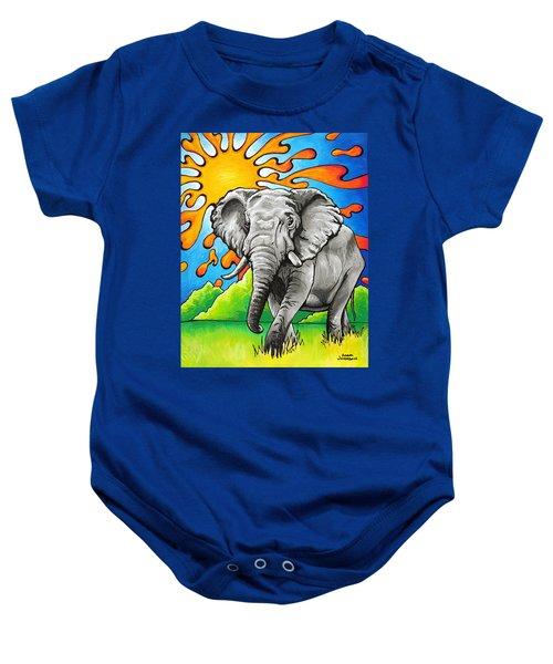 Majestic Elephant Baby Onesie