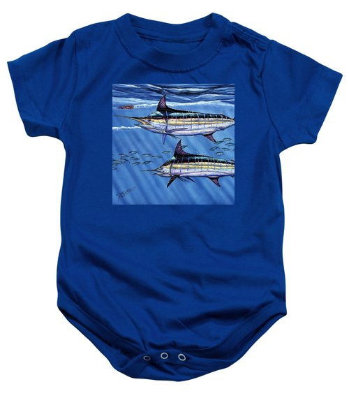 Marlins Twins Baby Onesie