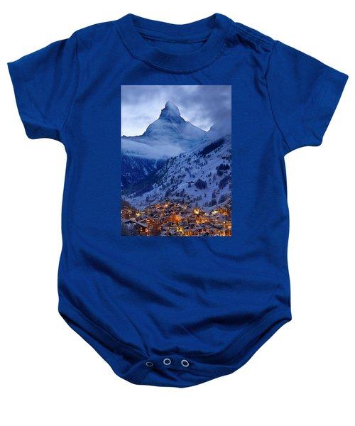 Matterhorn At Twilight Baby Onesie
