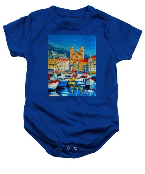 Mediterranean Harbor Baby Onesie