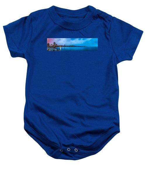Milwaukee Skyline - Version 2 Baby Onesie
