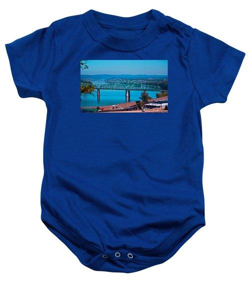 Miniature Bridge Baby Onesie by Jonny D