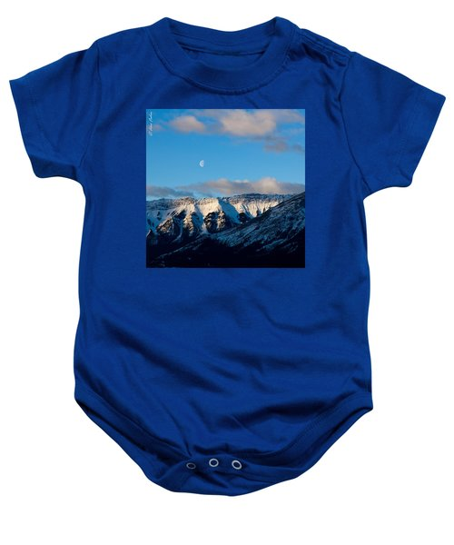 Morning In Mountains Baby Onesie