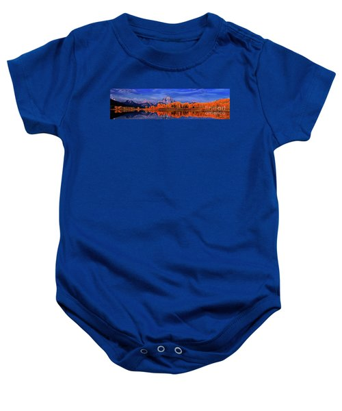 Mount Moran And Fall Color Grand Tetons Baby Onesie