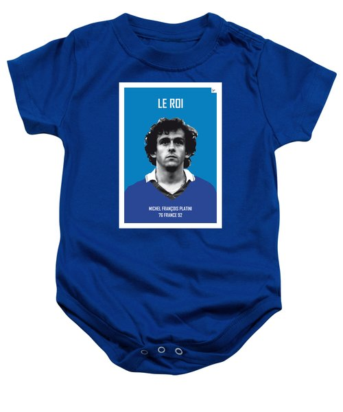 My Platini Soccer Legend Poster Baby Onesie by Chungkong Art