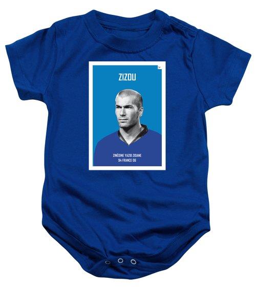 My Zidane Soccer Legend Poster Baby Onesie