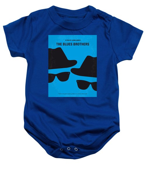 No012 My Blues Brother Minimal Movie Poster Baby Onesie