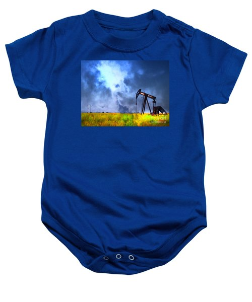 Oil Pump Field Baby Onesie