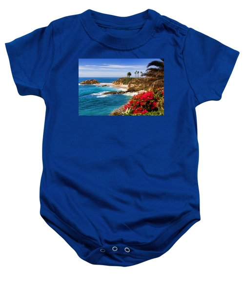 Orange County Coastline Baby Onesie