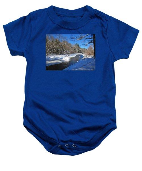 Otter Brook In Winter Baby Onesie