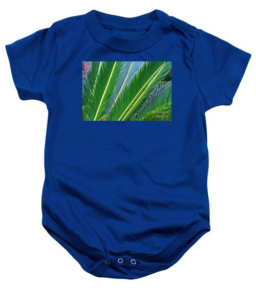 Palm Cycas Fronds Baby Onesie