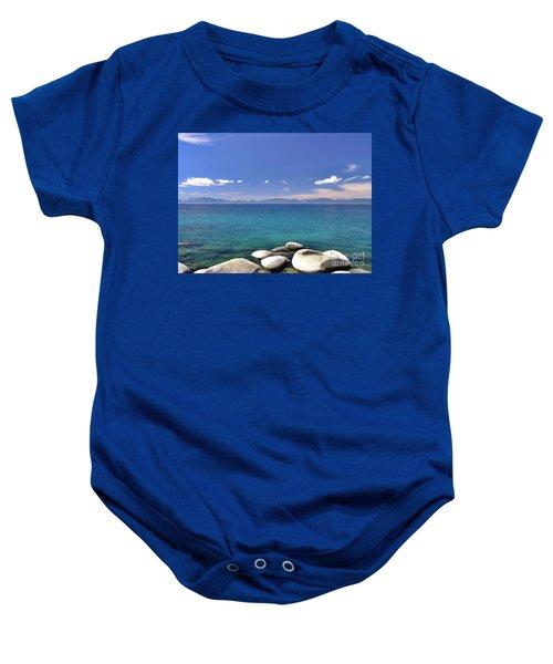 Peace - Lake Tahoe Baby Onesie