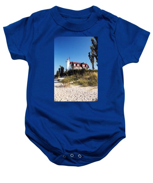Point Betsie Lighthouse Baby Onesie