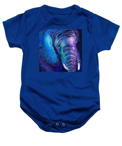 Purple Elephant Baby Onesie