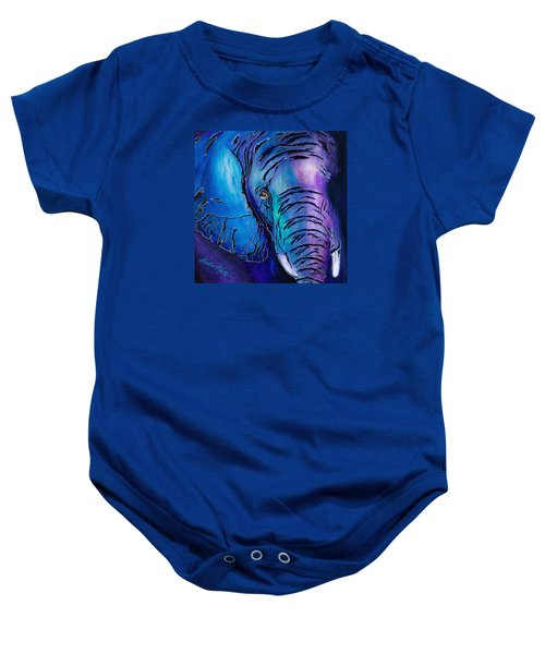Purple Elephant Baby Onesie
